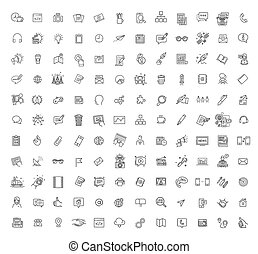 Thin line icons set. Icons for marketing