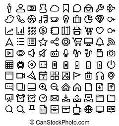Thin Line Icons set