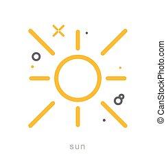 Thin line icons, Sun