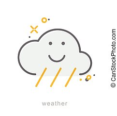 Thin line icons, Weather3