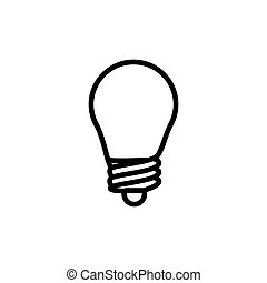 thin line light bulb, idea icon