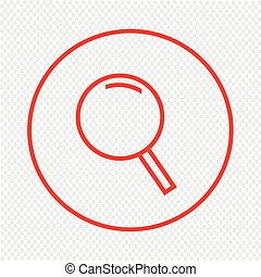 Thin line magnifier icon Illustration design