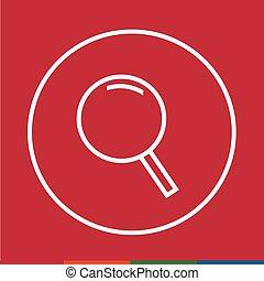 Thin line magnifier icon Illustration design