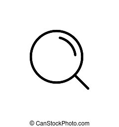 thin line magnifier icon