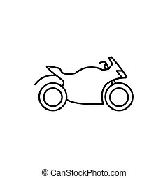 motorcycle icon on white background