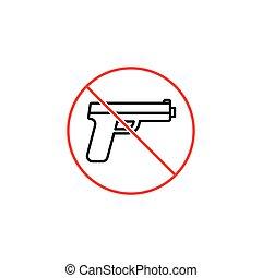 no gun sign on white background