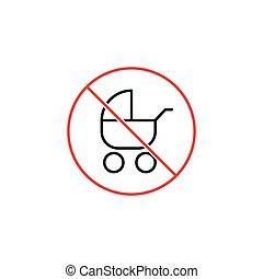 no pram sign on white background