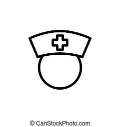 thin line nurse icon