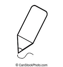 Thin Line Pencil Icon Illustration design