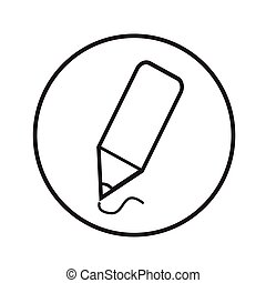 Thin Line Pencil Icon Illustration design