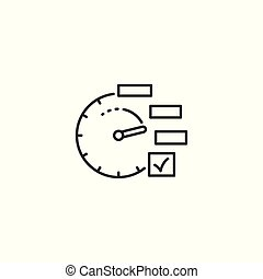 line planning icon on white background