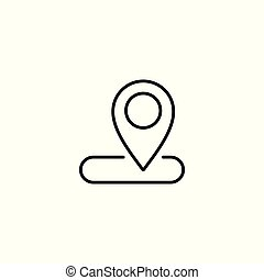 line route icon on white background