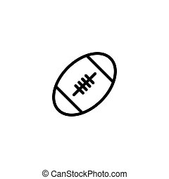 thin line rugby ball icon