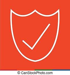 Thin Line Secure Icon Illustration design