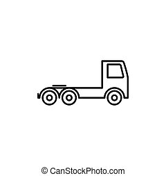 semi truck icon on white background