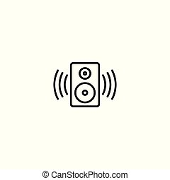 line sound speaker icon on white background