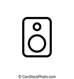 line speaker icon on white background