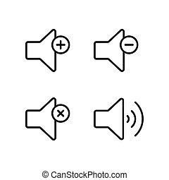 line speaker volume icon on white background