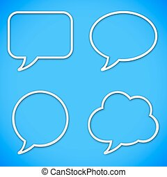 Thin Line Speech Bubbles