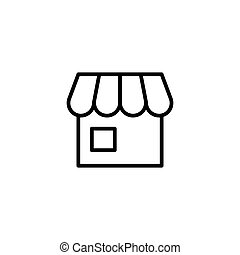 line store icon on white background