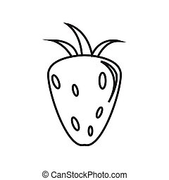 Thin line strawberry icon