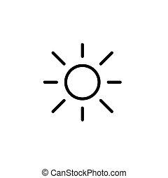 sun, light, brightness line black icon