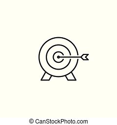line target icon on white background