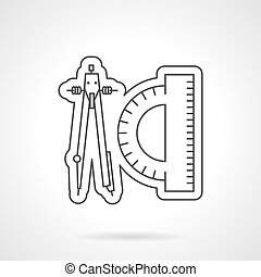 Thin line vector icon for drawing