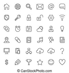Thin Line Web Icons