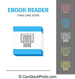 Thin lined ebook reader.