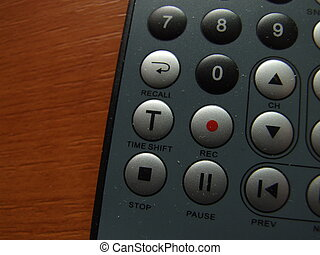 thin remote closeup