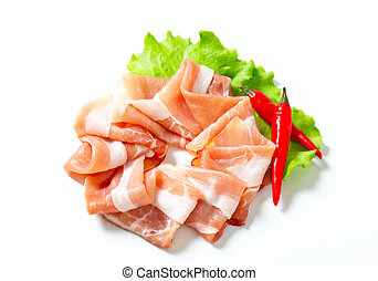 Thin slices of Prosciutto di Parma