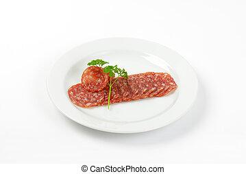 thin slices of salami