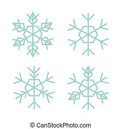 Thin Snowflake Set