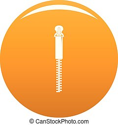 Thin Zip icon vector orange