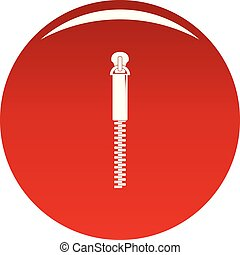 Thin Zip icon vector red
