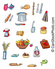 things to cook, cooking utensils, food