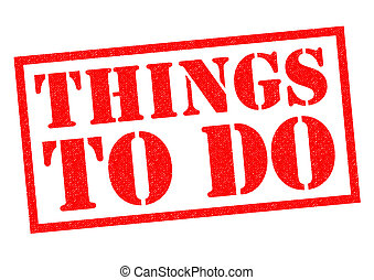 THINGS TO DO red Rubber Stamp over a white background.