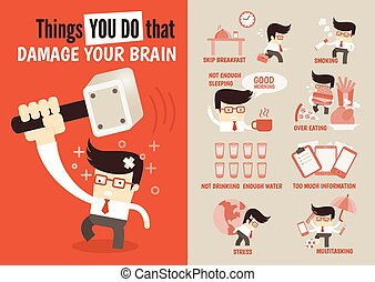 Things you do that damage your brain