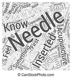 Things You Should Know About Acupuncture Word Cloud Concept