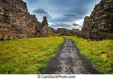 thingvellir, nationalpark, in, island