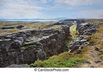 Thingvellir (Pingvellir) National Park in Iceland -...