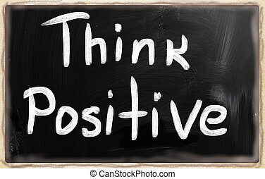 """think, μαυροπίνακας , κιμωλία , positive"", άσπρο , handwritten"
