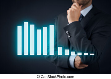 Think about costs - Businessman think how to decrease costs....