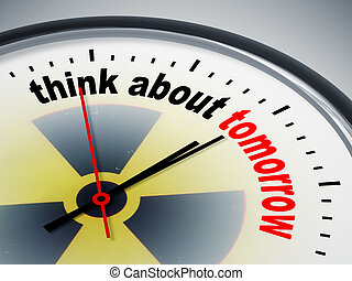 think about tomorrow - An image of a nice clock with think...
