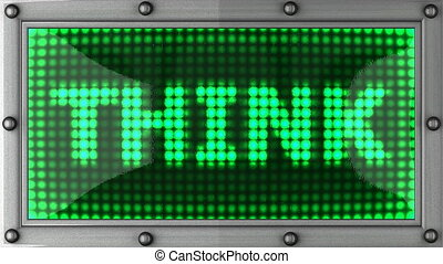 think  announcement on the LED display