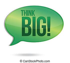 Think big message illustration