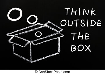 """think, dehors, concept, box"""