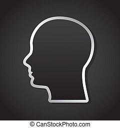 think design  - think graphic design , vector illustration