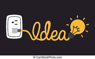 think design over black background vector illustration